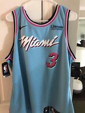 Dwyane Wade Nike Miami Heat City Edition Jersey Size 52 Xl New Nwt Blue Nba Vice