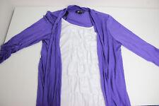AB Studio Women's Size Large L 3/4 Sleeve Blouse Double Front MSRP $48.00
