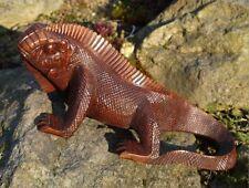NEU großer LEGUAN Echse Tier Figur Holz Drache Reptil