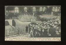 Germany Emperor visit to Horticultural Exhibitionh Berlin April 1909 used PPC