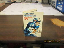 CFL Toronto Argonauts Vintage 1978 Pocket Schedule