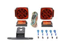 Red/White LED Stop Trailer Light Kit 12V Lights Truck Trailer Boat Brake License