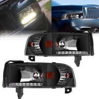 for 1994-2002 Dodge Ram 1500 2500 3500 Headlights w/LED DRL & Corner Signal Lamp