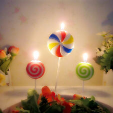 3Pcs Lollipop Candles Stick Shaped Cake Bougie Birthday Party Decoration Candles
