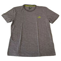 THE NORTH FACE Gray Cross Fit Hiking Running Logo on Back Tee Shirt Mens Size XL