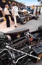 9x6 Photograph Ronnie Peterson  JPS Lotus 72E , Brazilian GP Interlagos 1973