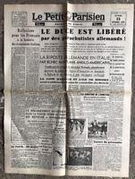 N45 La Une Du Journal Le Petit Parisien 13 Septembre 1943