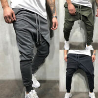 AU Men's Casual Jogger Harem Pants Loose Sweatpants Slim Long Trousers Plus Size
