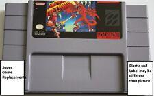 Super Metroid Game, SNES Super Nintendo, Saving, Free Shipping
