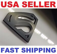 Cool SUZUKI GSX-R 600-750 2011-2015 K11 Superman Logo 3D Black Sticker Decal
