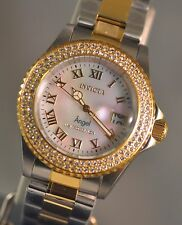 New Ladies Invicta Cruiseline Angel Swiss Quartz Pearl Two Tone Watch