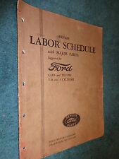1934 FORD CAR & TRUCK FLAT-RATE MANUAL / ORIGINAL LABOR TIMES BOOK