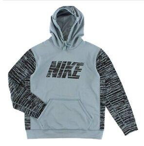NIKE Nike KO Camo Block Pullover Mens Grey/Black Training Hoodie, Large