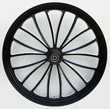 "Manhattan ""Black Cut"" Dual CNC 23"" x 3.5"" Front Wheel for Harley & Custom Models"