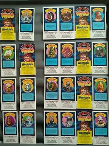 Weetabix Dr who full set 24 cards/ plus l piece of packet  good condition 1977