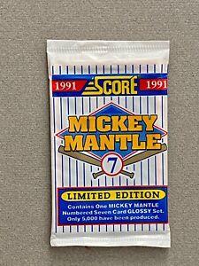 Score 1991 Mickey Mantle L.E. 7-Card Set – Factory Sealed – #2460/5000