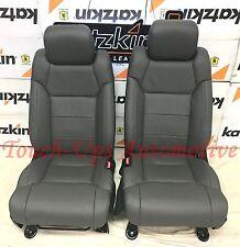 2014 2015 2016 2017 2018 Tundra CrewMax KATZKIN Charcoal Leather Seat Covers Kit