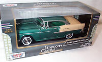 1955 Chevy Bel air Metallic Green 1-24 Scale Model New in box