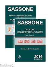 SASSONE CATALOGO SPECIALIZZAZIONI E VARIETA DELLA REP. ITALIANA TRIESTE 2016