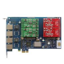 AEX410 2FXO + 2FXS Asterisk card PCI-e card for elastix trixbox freepbx voip pbx