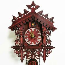 Cuckoo Clock Quartz-movement Carved-Style 25cm Black Forest Style