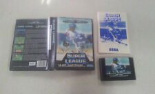 Super League Sega Mega Drive Game USED Boxed PAL Region