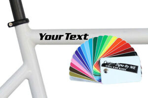 2x Personalised Bike BMX Scooter Frame Stickers Vinyl Decals Adhesive 8 Styles B