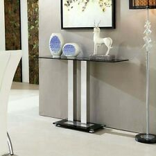 Jet Trendy Console Table Rectangular In Black Glass
