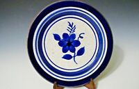 """Vintage Stangl Stoneware Collector Plates Hand Painted - Blue/Sand/Brown - 6""""D"""