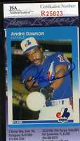 ANDRE DAWSON 1987 FLEER JSA COA Hand Signed Authentic Autographed EXPOS