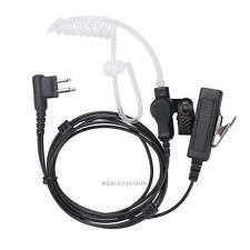 2PIN Mic Covert Acoustic Tube EARPIECE HEADSET For Motorola 2-Way Radio Security