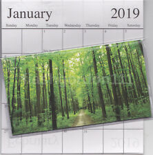 1 - 2018-2019 GREEN FOREST 2 Two Year Planner Monthly Pocket Calendar Datebook