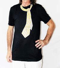 Negro O Gris Camiseta con el Rojo Corbata/Telas A RAYAS / TIRANTES Impreso En It