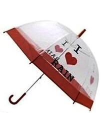 Me encanta Lluvia señoras clara burbuja domo Paraguas ajuste Rojo