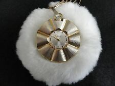 Vintage Sheffield Shock Resistant Necklace Pendant Wind Up Watch with Chain