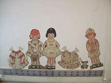 Polly Fay, Jack & Jill paper dolls McCalls Magazine *partial set* 1921 vintage