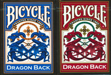 2 Deck Set 1 Red & 1 Blue DRAGON BACK Bicycle 309 Poker Playing Cards