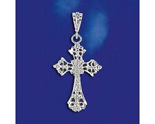 Sterling Silver Cross Pendant Italian Vintage Charm Christian Solid 925 Italy