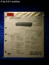 Sony Service Manual CDP 411 / 511 / D7 CD Player (#0457)