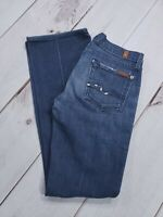 Seven 7 For All Mankind Dark Wash Boot Cut Jeans Womens Size 25 Inseam 29""