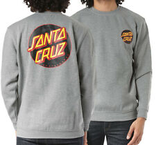 Santa Cruz - Other Dot - Skateboard Crew Pullover Top - Grey - Medium