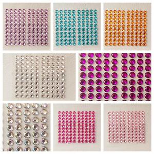 100 x 5mm Self Adhesive Rhinestones, Gems for Crafts, Card Making