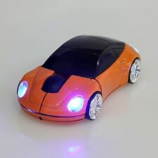 2.4GHz Inalámbrico 3D 1600DPI coche forma de estilo USB ratón óptico inalámbrico 7 Colores