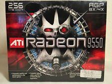 NEW ATI Radeon 9550 AGP 256MB DDR Graphics Card (factory Sealed)