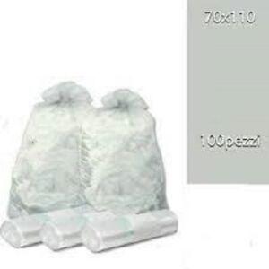 100 Sacchi Differenziata trasparenti Buste Immondizia 70x110cm Spazzatura