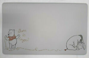Disney POOH & EEYORE Anti-Fatigue Cushioned Padded Kitchen Mat 18x30 Gray Red