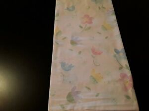 Pottery Barn Kids Sweet Girls Twin Sheet Set Pastel Floral On Pink/White Gingham