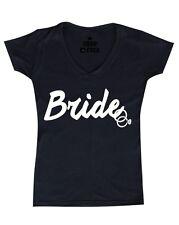Bride White Women's V-Neck T-shirt Wedding Marriage Bachelorette Party Shirts