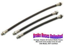 BRAKE HOSE SET Kaiser-Frazer 1952 1953 1954 1955, All except Henry J & Allstate