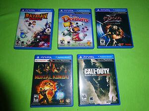 5 PS Vita Replacement Cases, Game Box Case PlayStation - Mortal Kombat Rayman